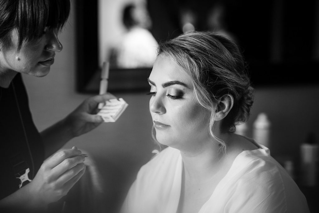 Bridal makeup in central MA.