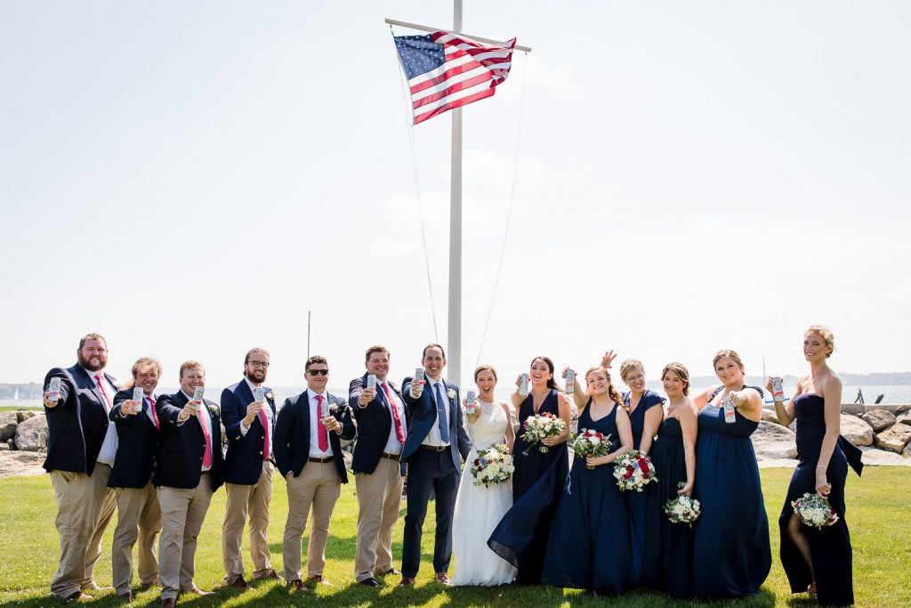 Fourth of July parade wedding in Bristol, RI