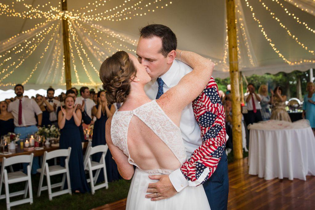 Fourth of July wedding at Mt. Hope Farm in Bristol, RI