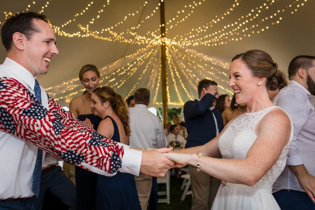 Fourth of July wedding at Mt. Hope Farm in Bristol, RI