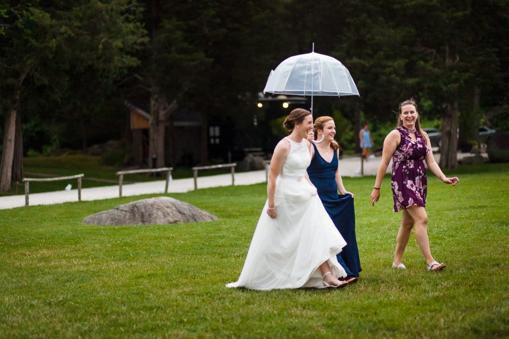 Rainy wedding reception at Mt. Hope Farm in Bristol RI