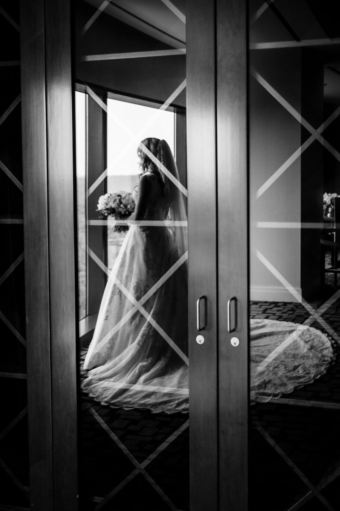 Wedding prep photo from Fox Tower at Foxwoods Casino wedding