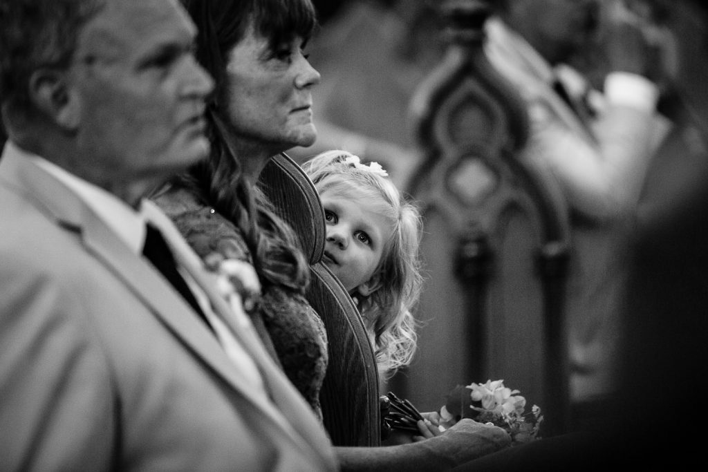 Wedding ceremony photo from St. Patrick Cathedral in Norwich, CT