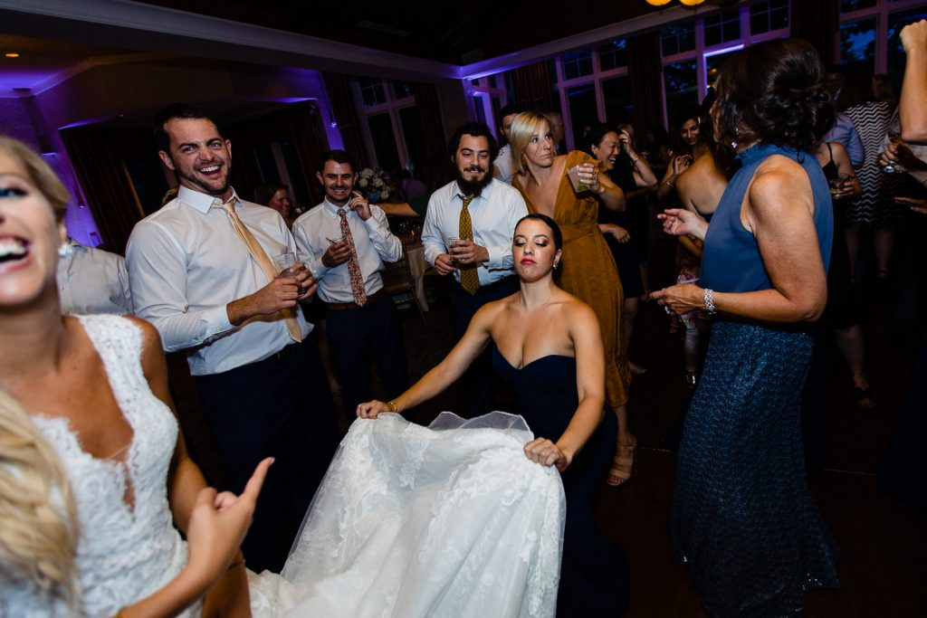 Dance floor wedding photos from Lake of Isles Foxwoods Wedding