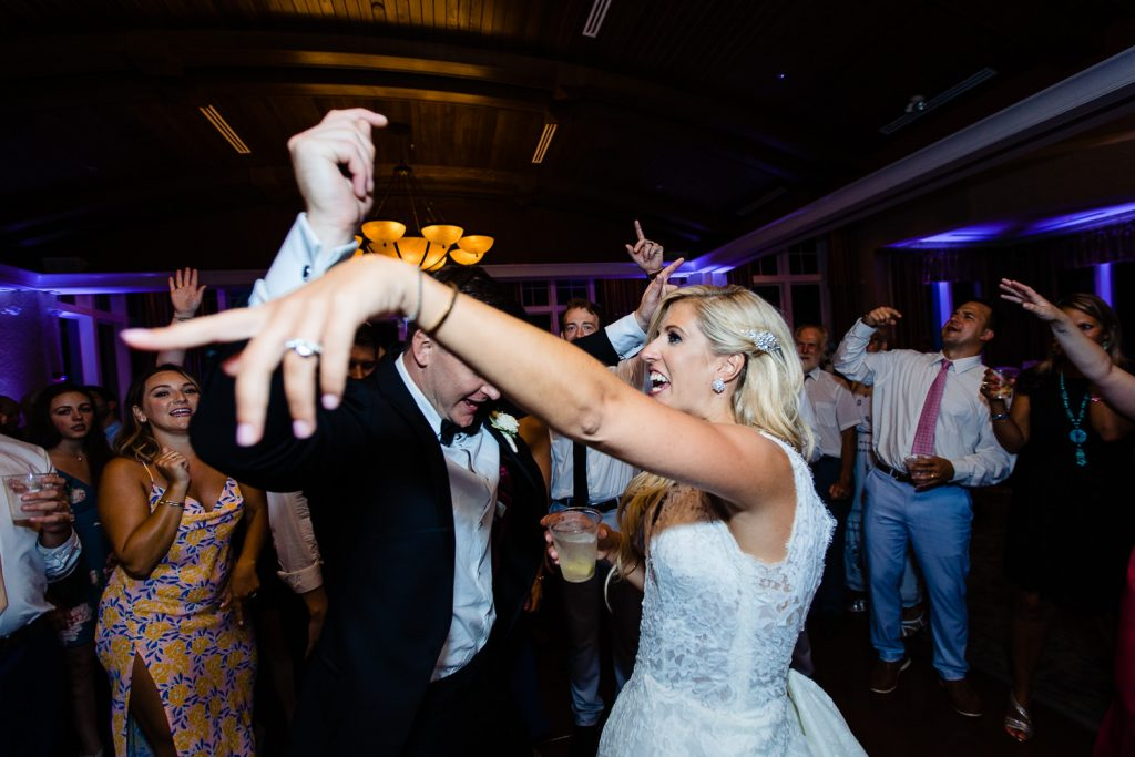 Dance floor wedding photos from Lake of Isles Foxwoods Wedding
