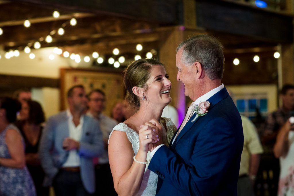 The bride dances with her father at The Barn at Pickering House wedding