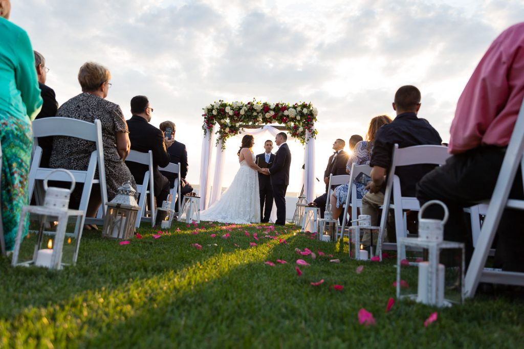 outdoor wedding ceremony at belle mer in newport ri