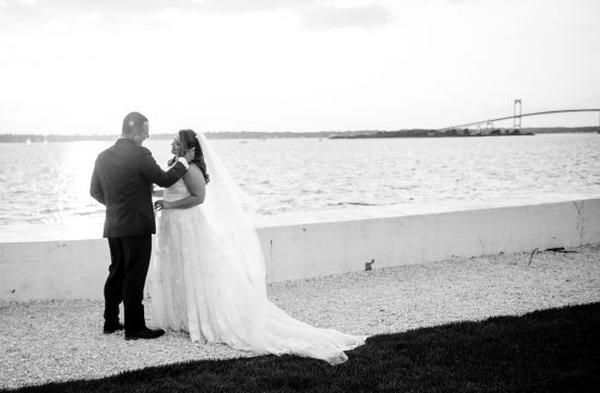 sunset wedding photos at belle mer in newport ri