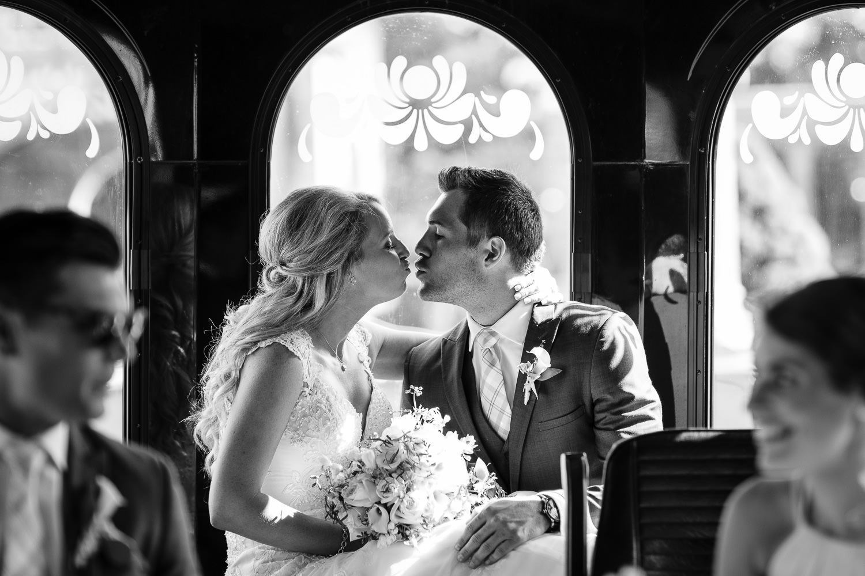 Wedding trolley photo in Newport RI