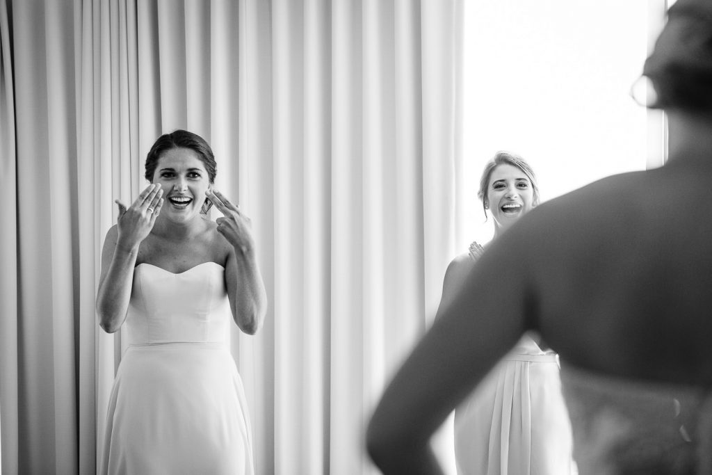 Bride getting ready at Newport Marriott Wedding