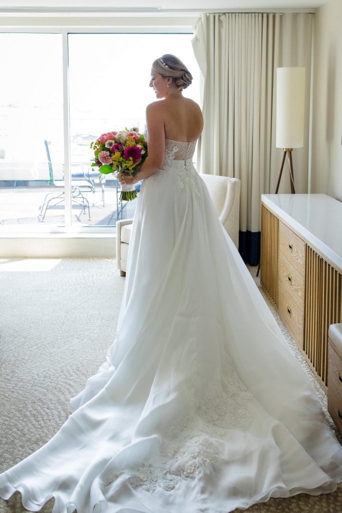 Bride getting ready at Newport Marriott Wedding