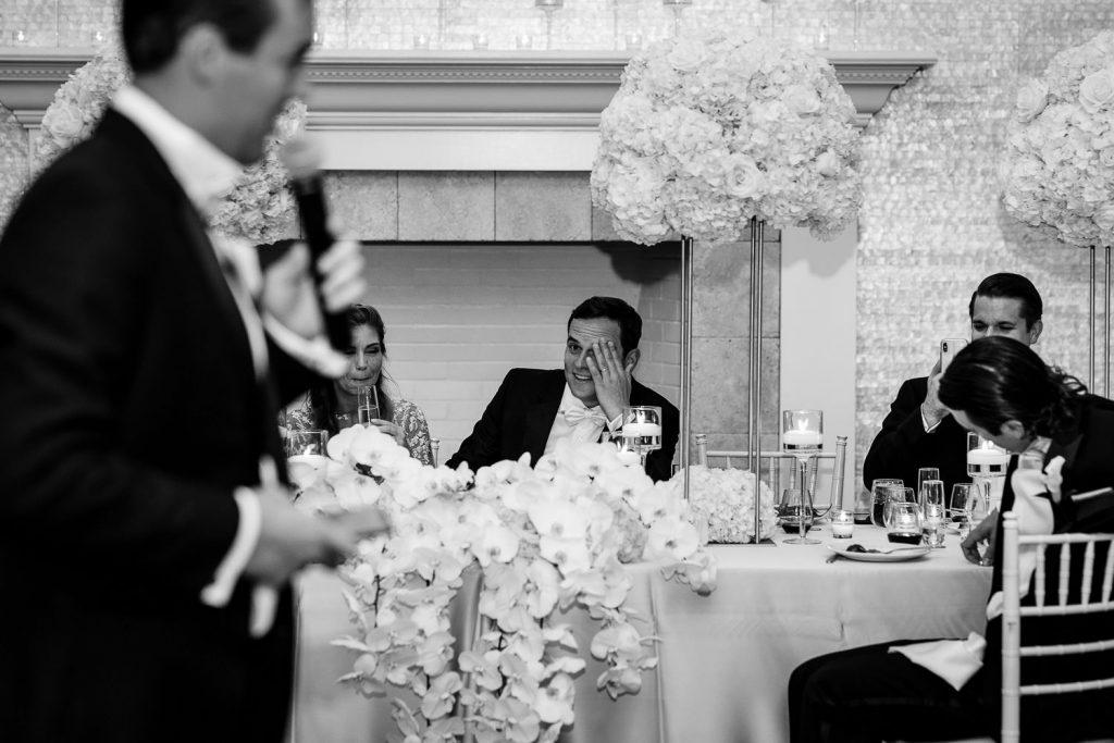 groom facepalms at best man speech
