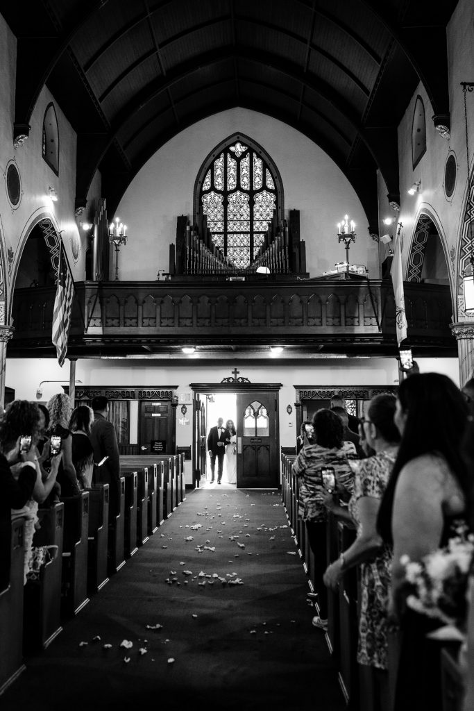 Wedding at St. Josephs church in shelton ct