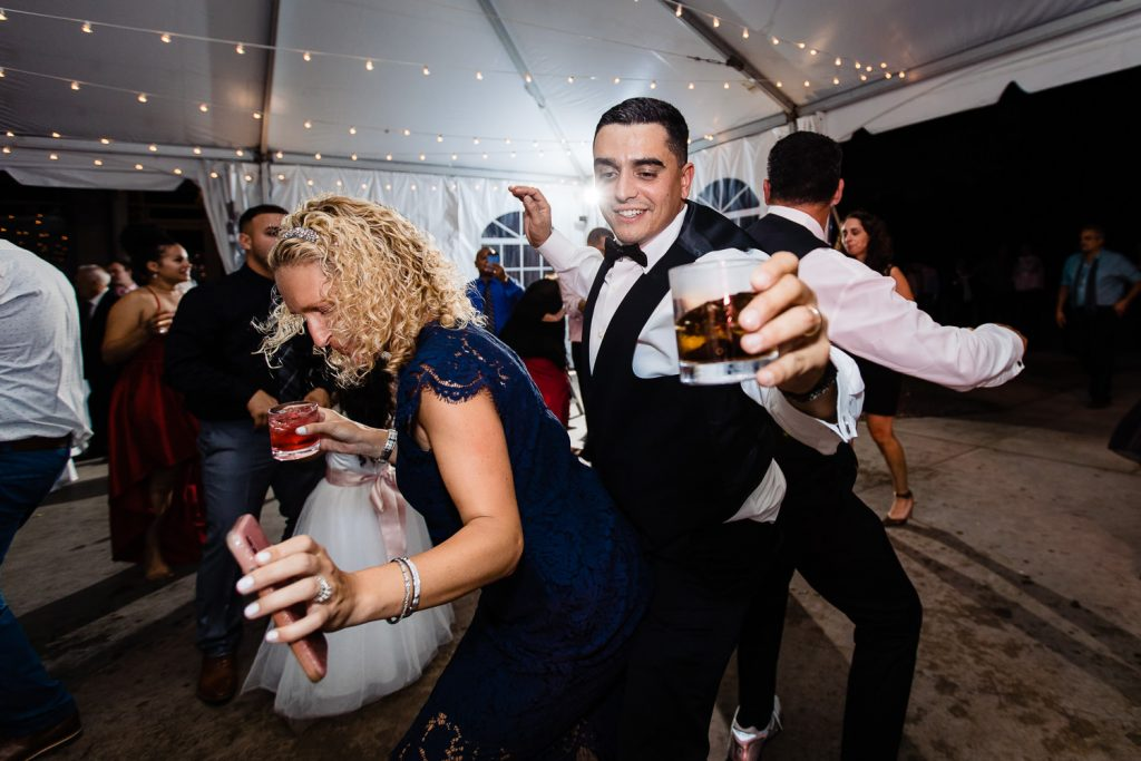 Dancing under the tent at a Harkness Park CT wedding