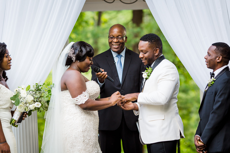 lakeview pavilion haitian wedding ceremony