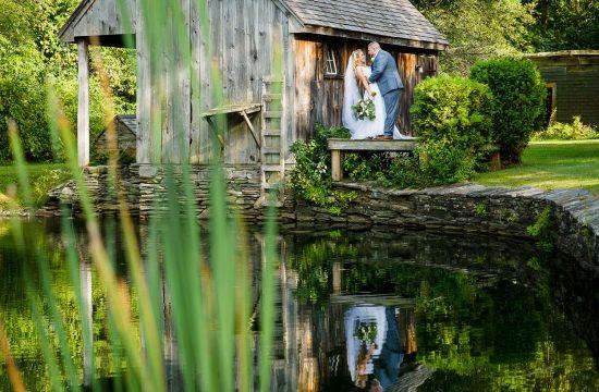 Bridal portrait at Wrights Mill Farm wedding
