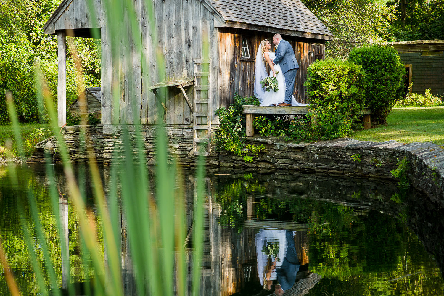 Bridal portrait at Wrights Mill Farm wedding