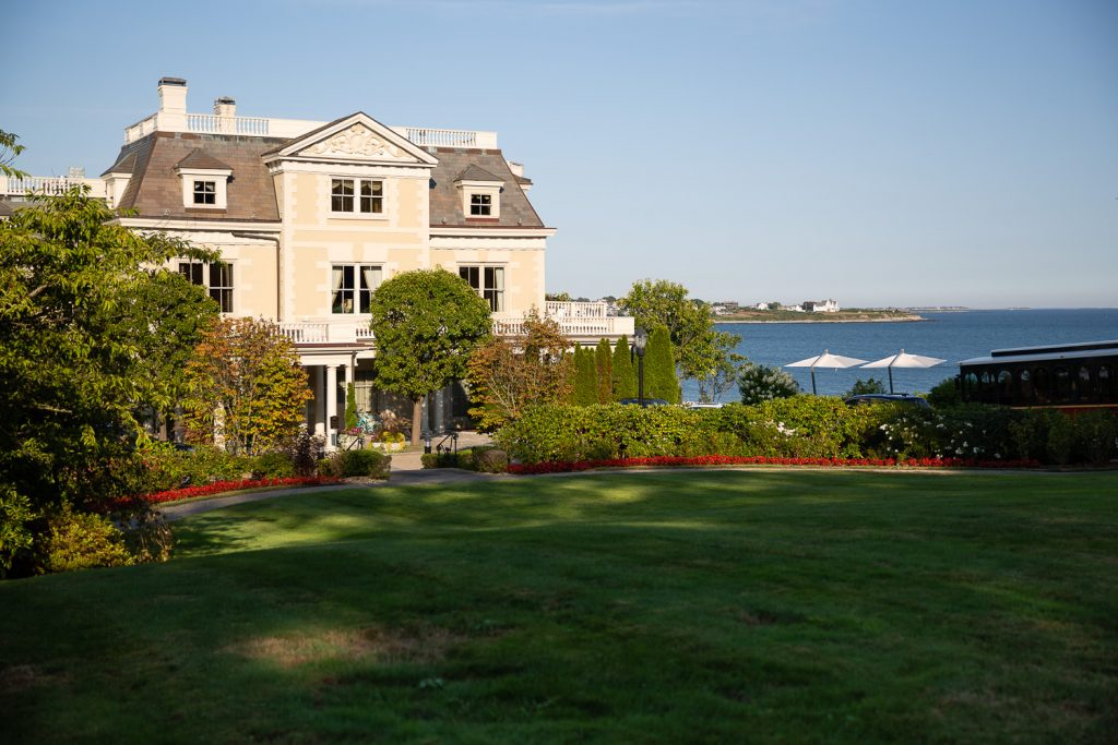 A view of the chanler hotel on cliff walk in newport ri