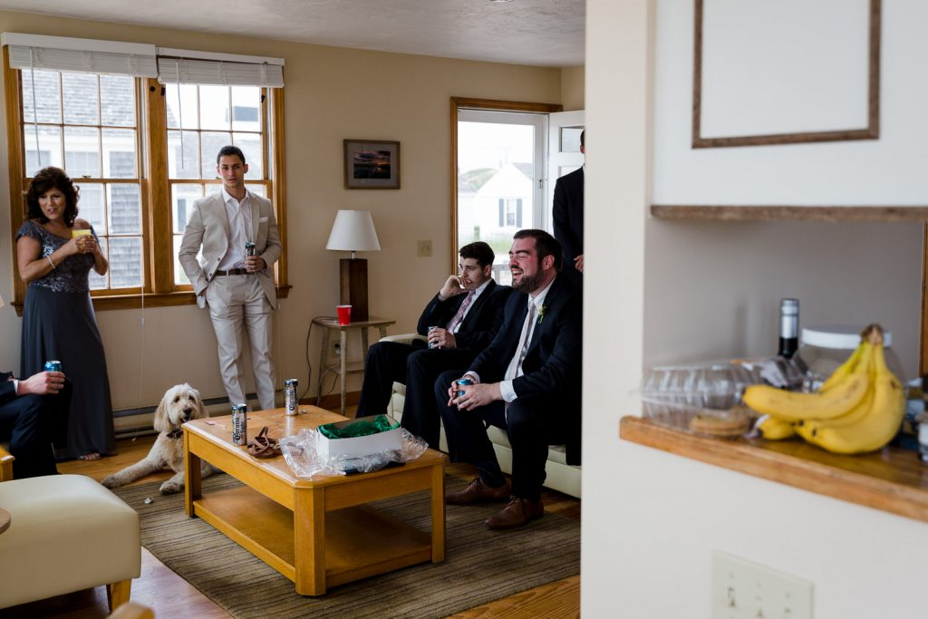 The groom and his family get ready for a wedding in their cottage at kalmar village