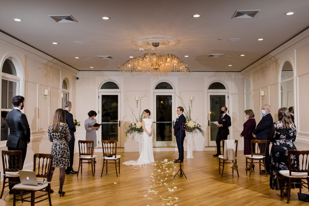 A minimony wedding ceremony at queen anne's loft in downtown newport ri